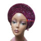 Embellished Velvet Turban – Purple