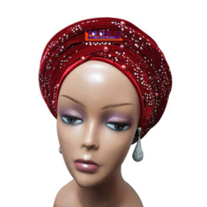 embellished velvet turban